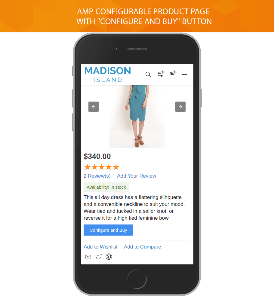 Accelerated Mobile Pages template for Magento :: $79 :: Free ...