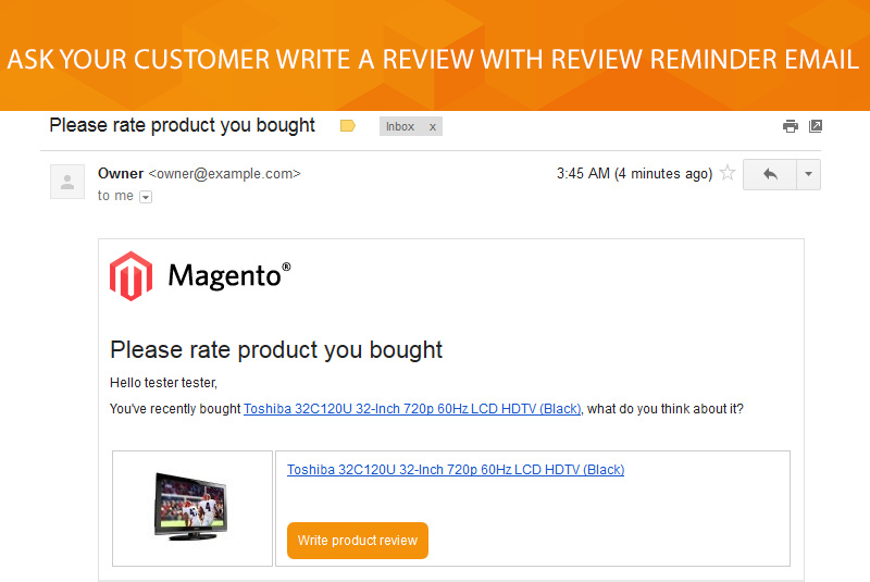 Magento 2 Review Reminder Extension :: $79 :: Free Installation