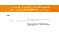 GeoIp module settings