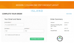 1 column one step checkout layout