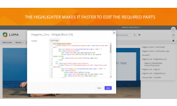 The Page Builder highlighter makes editing faster.