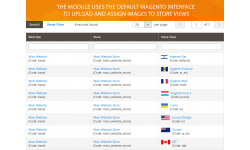 The module uses the default Magento interface to help you assign flag images