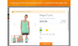 Magento 2 add to cart popup with abiility to choose product custom options