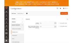Checkout Cart module functionality
