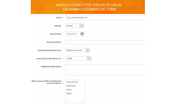 Custom fields of customer edit form in admin panel.