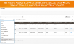 Magento 2 Delete Orders extension helps to delete test orders, old records, invoices, shipments..