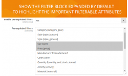 Filter attributes are expanded by default