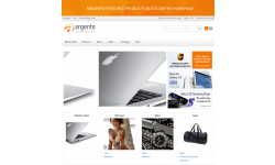 Banner and featured products block