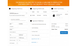 Ability to show Subscribe to Newsletter checkbox for guests on checkout page