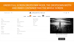 Magento 2 dropdown menu full screen