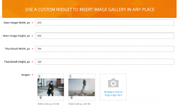Image gallery widget settings