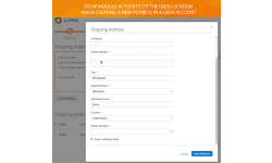 GeoIp detection on the user account page
