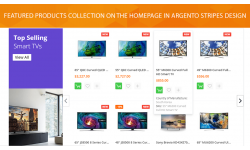 List of featured products. New design of homepage widgets.