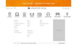 Magento 2 iconic menu