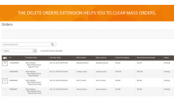 With the module can delete the one order or several orders at the same time.