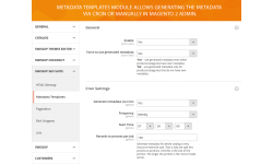 General configuration of Metadata Templates module
