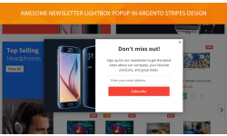 Lightbox popup with newsletter subscription