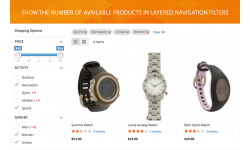 Users can see the number of available products right in layered navigation block