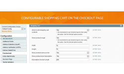Shopping cart configuration