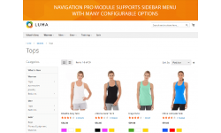Sidebar menu for Magento 2 navigation