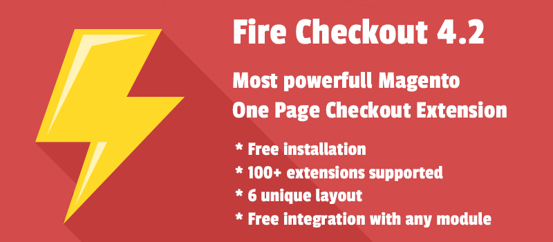 Fire Checkout : Most powerfull Magento One Page Checkout Extension
