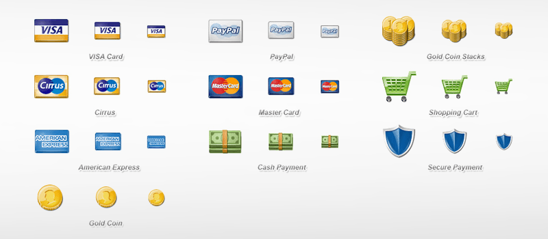 30 Free Credit Card And Payment Methods Icons Set For Your