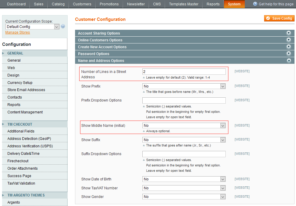 how to change shipping areas in magento