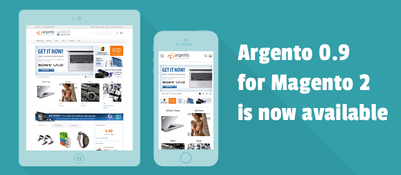 Get latest 0.9 release of Argento responsive template for Magento 2