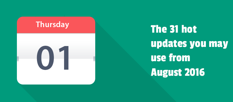 Monthly update report for August 2016