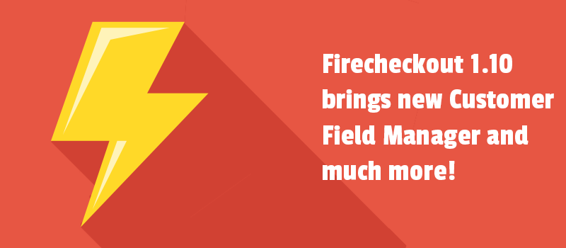 In the mood of FireCheckout 1.10.0 release. Customer Field Manager module, field mask feature and other cool changes.