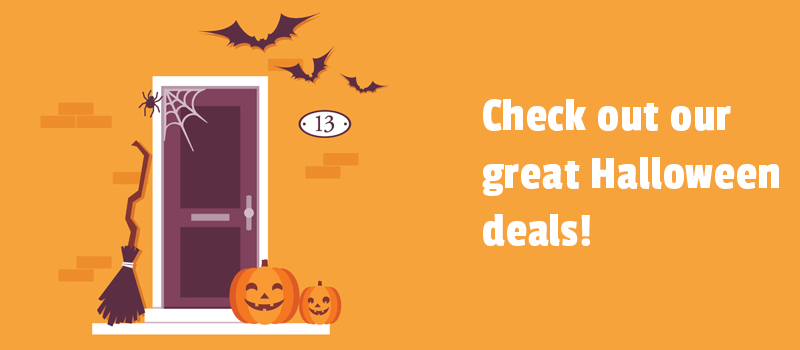 Like to receive treats for the website? Check out our great Halloween deals 2019.