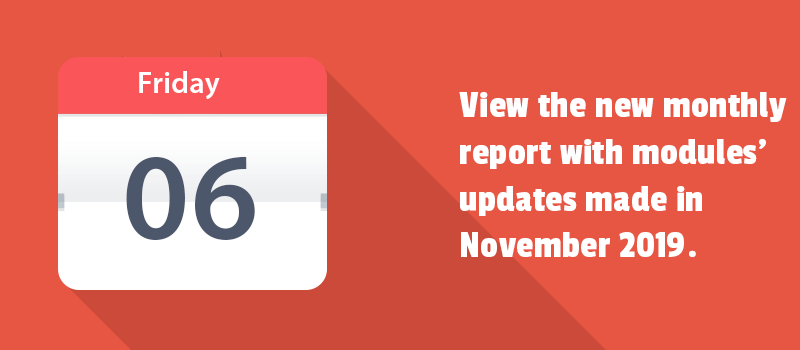 The power of monthly updates is in enhancing your Magento 2 store with new functionality. Check it out to see the advances.