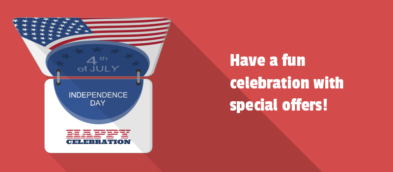 Wishing all Americans a happy Independence Day. Check our special deals!