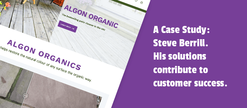 A Case Study: Steve Berrill. His solutions contribute to customer success.